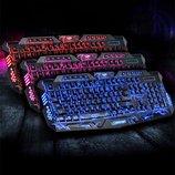 Игровая клавиатура с 3-х цветной подсветкой