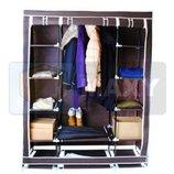 Тканевый двойной шкаф для одежды, шкаф-органайзер Польша. И.