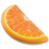 Надувной плотик долька апельсина Intex 58763 размер 178х85см