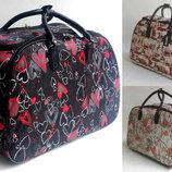 Тканевая дорожная сумка с выдвижной ручкой на колёсах 53 см. в расцветках