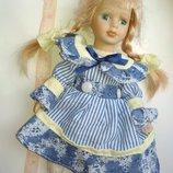 Коллекционная винтажная кукла фарфор фарфоровая куколка на детали реставрацию