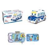 Машина-Каталка с игровым набором Полиция свет, звук Полицейская машинка