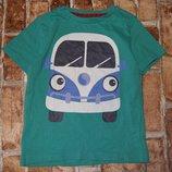футболка хб Автобус 4-5лет Ту сток большой выбор оджежды 1-16лет