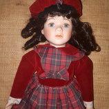 коллекционная фарфоровая куколка the Charlotte Promenade collection Англия
