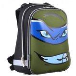 Школьный рюкзак ранец портфель каркасный для мальчика в школу ортопед спинка H-12 Turtles face