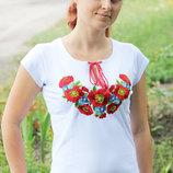 Вышиванка для девочки короткий рукав.