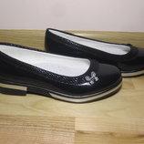 Шкільні туфлі балетки на дівчинку Bi&ki bk-3630-D р.33-38 туфли, балетки школьные на сменку