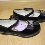 Шкільні туфлі балетки на дівчинку Tom.m 1421B р.26-31 туфли, балетки школьные на сменку