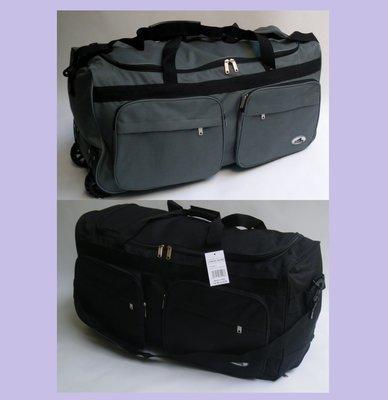 230a94ccd487 Дорожная, спортивная сумка на колесах с выдвижной ручкой Rhino - серая и  черная , 94