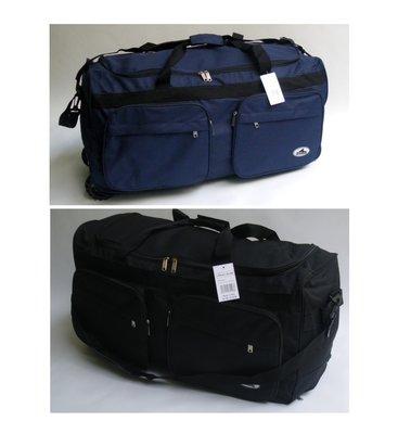 3b7198c4038c Дорожная, спортивная сумка на колесах с выдвижной ручкой Rhino синяя и  черная ,75 л