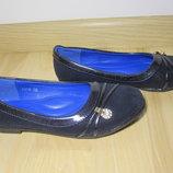 Шкільні туфлі балетки на дівчинку W.niko XY6 р.30-37 туфли, балетки школьные на сменку