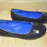 Шкільні туфлі балетки на дівчинку W.niko xy-6 р.30-37 туфли, балетки школьные на сменку
