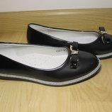Шкільні туфлі балетки на дівчинку W.niko G067-6 р.33-37 туфли, балетки школьные на сменка