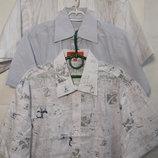 Рубашка слим лен-коттон 100% рост 92-170