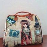 Женская пляжная летняя сумка интересного дизайна
