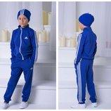 Костюм двойка Adidas двух нить трикотаж, девочка мальчик 122-128 128-134,134-140,140-146,146-152