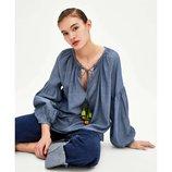 хлопковая блуза Zara оригинал из Испании оверсайз