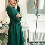 Новые цвета Винтажное классическое трикотажное платье Миссис Тейлор за колено от рр40 по рр46