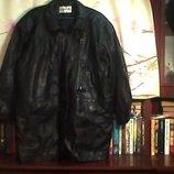 Муж.кож. заменитель куртка в хорошем состоянии,размер-2xl/ ш-124 см.. дл-85 см.