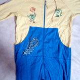 Бодик слип человечек пижамка 1-2 годика