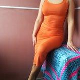 Длинное платье майка 36 размера вискоза эластан