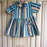продам детское джинсовое платье-халатик