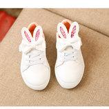 Детские ботинки для девочки Кролик 26р. белые