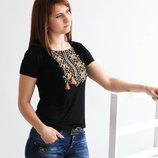 Женская футболка вышиванка, Вишиванка жіноча, р-р 42-56