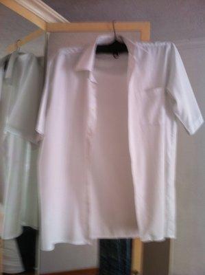 Белоснежная мужская рубашка 50 размера 41 ворот