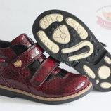 Кожаные ортопедические ботинки Размеры 26-29