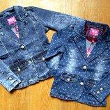 Модняча джинсова куртка, піджак для дівчинки. Венгрия