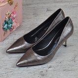 Туфли лодочки Fabio Monelli Vogue женские на каблуке шпильке металлик