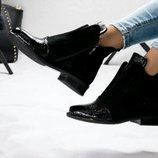Ботинки Разрез, деми, натур замша