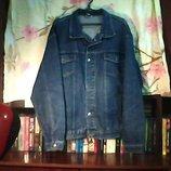 Муж. джинсовая куртка состояние новой.Замеры грудь-65 см длина-65 мс.размера 56