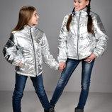 Демисезонная куртка серебро р32-38