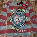 реглан хб Часы 7-8лет сток бирка большой выбор одежды 1-1-6лет