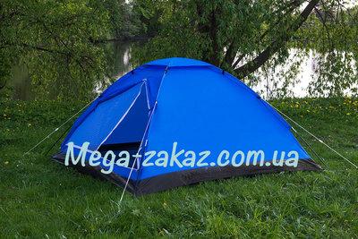 Палатка туристическая трехместная Weekend 100203 размер 1,8х2,0х1,2м