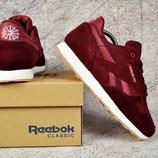 Подростковые кроссовки Reebok classic 36-40р бордовые