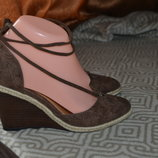 кожа новые женские босоножки на платформе Next 24 см 37 размер Англия