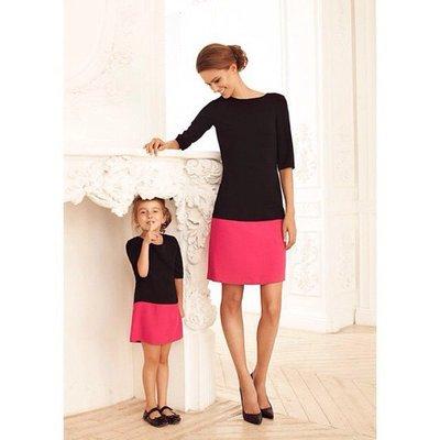 Комплект платьев фемели лук мама дочка различное сочетание цветов