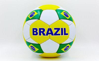 Мяч футбольный 5 гриппи Brazil 0047-139 PVC, сшит вручную