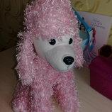 Мягкая игрушка собака Розовый Пудель.