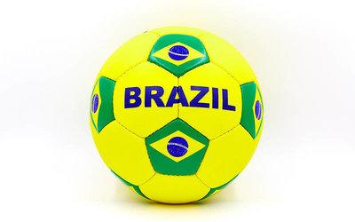 Мяч футбольный 5 гриппи Brazil 0047-3686 PVC, сшит вручную