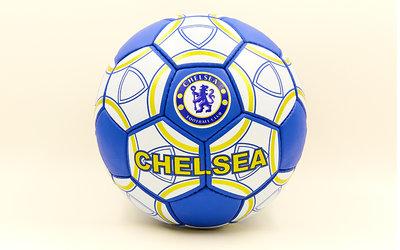 Мяч футбольный 5 гриппи Chelsea 0047-152 PVC, сшит вручную