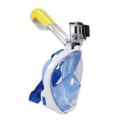 Маска с трубкой для плавания и снорклинга Free Breath размеры S-XL Синяя, черная, розовая