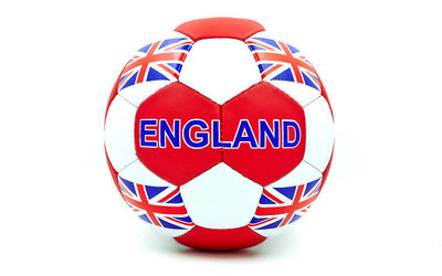 Мяч футбольный 5 гриппи England 0047-138 PVC, сшит вручную