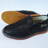Туфли-Мокасины с перфорацией для мальчика бренда Y.Top, р. 27-32 , код - 037