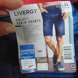 Новие стильние джинсовие фирменние шорти бриджи Livergy ливеджи Германия .л-хл 50