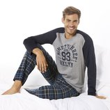 Теплый домашний костюм, мужская пижама, Livergy Германия, реглан, штаны фланель байка