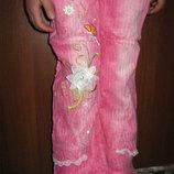 красивые, нарядные Вельветовые Новые штаны, Брюки для Девочки рост 122-148